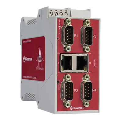 RTS DB9M 4 Port 2E right 400px - DeviceMaster Modbus Products