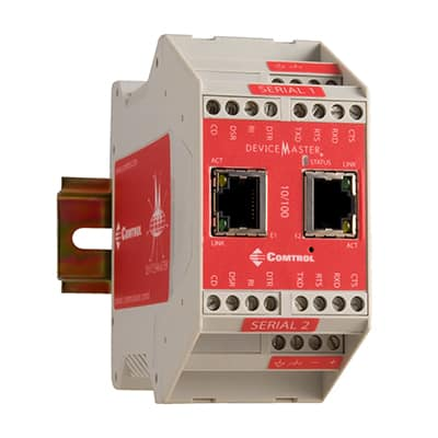 DMRTS 2port 2E 99481 7 left 400px - DeviceMaster ® DIN rail